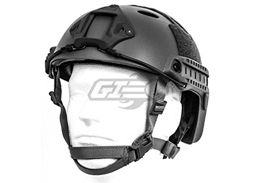 Lancer Tactical Airsoft Tactical PJ Type Helmet LRG/XL - Black