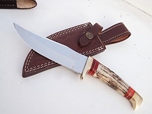 ++ DKC-717-440c BALD EAGLE 440c Stainless Steel Bowie Hunting Handmade Knife Stag Horn Fixed Blade 9.8oz 10 '' Long 5'' Blade DKC KNIVES by DKC Knives (Image #3)