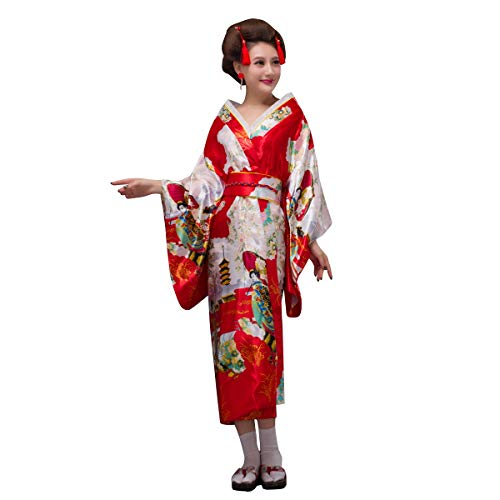 THY COLLECTIBLES Women s Silk Traditional Japanese Kimono Robe Bathrobe   Party  Robe fe764b2c6