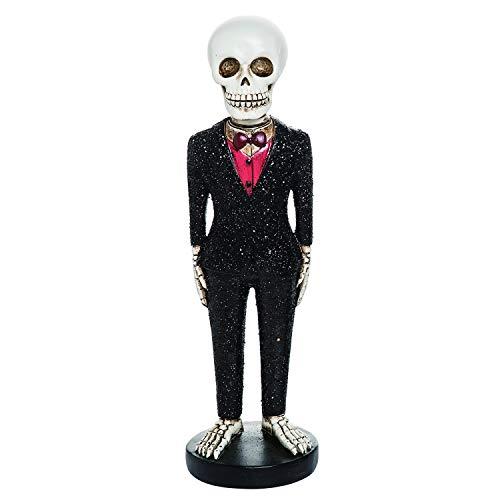 One Holiday Way Fancy Bride or Groom Skeleton Figurine - Tabletop Halloween Decoration (Groom) (Muertos Dia Los De Bride)