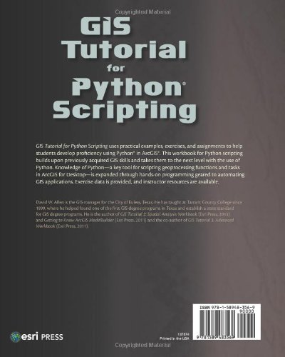 GIS TUTORIAL FOR PYTHON SCRIPTING PDF DOWNLOAD