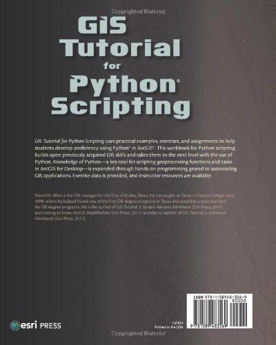 GIS Tutorial for Python Scripting: Amazon co uk: David W