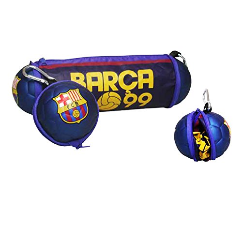 Fc Barcelona Folding Ball Pencil Case