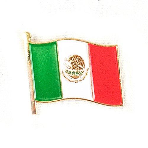 Mexico Waving Flag Lapel Pin Country Made of Metal Souvenir