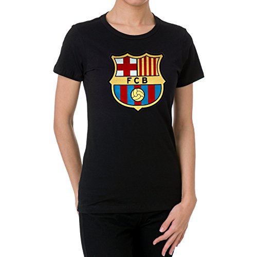 alt creation FC Barcelona Soft Metallic Foil Design Womens T Shirts