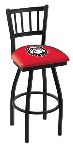 Holland Bar Stool L018 University of Georgia Bulldog Logo Swivel Bar Stool, 30