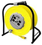 Alert Stamping 9100HT Heavy Duty Multi-Outlet Wind-Up Reel with 4-Outlet and Circuit Breaker