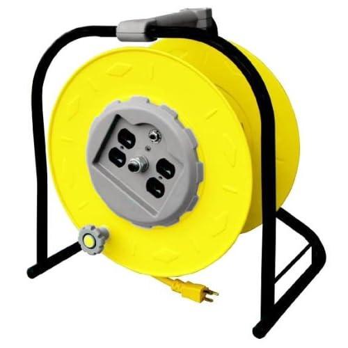 Image of Cord Reels Alert Stamping 9100HT Industrial Multi-Outlet Manual Wind-Up Reel w/Circuit Breaker