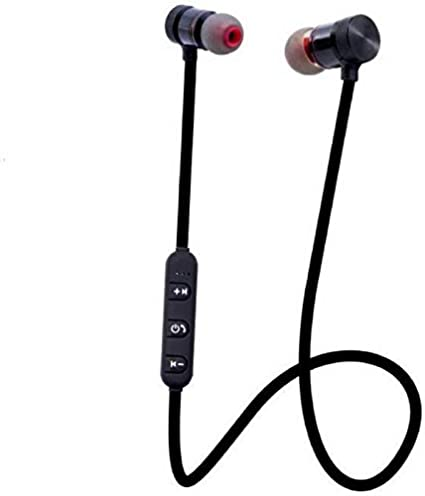 Anytime Shops Wireless Bluetooth 4.1 In Ear Headphone with Mic for all Smartphones  Black Headsets