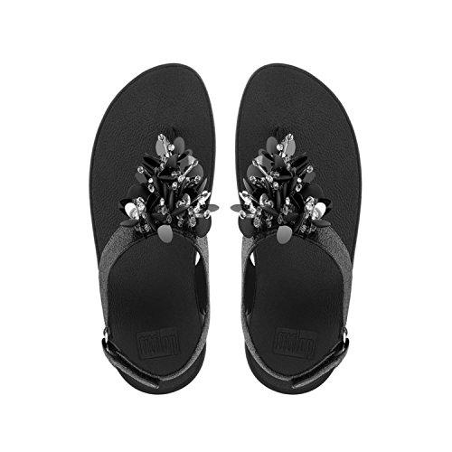 Fitflop Sul Strap Boogaloo Back black Donna Sandals Con 001 Sandali Chiusura Retro Nero q6qHrAUw