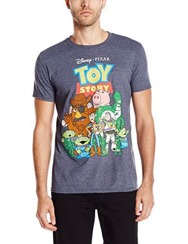 Toy Story Men's T-Shirt, Navy Heather, Medium