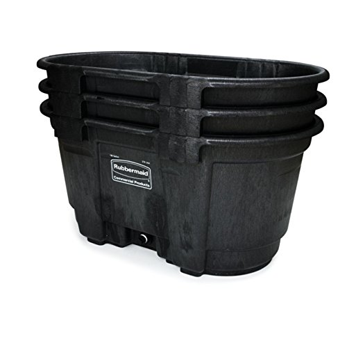 Rubbermaid Commercial FG424288BLA Structural Foam Stock Tank, 100 Gallon Capacity, 53'' Length x 25'' Height, Black by Rubbermaid Commercial Products (Image #2)