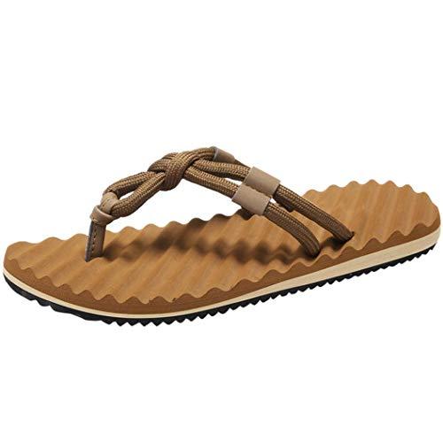 FORUU Men Summer Beach Sandals Flat Shoes Sandal Hombre Sewing Shoes Flip Flops Shoes ()