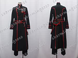 D Gray-man Yu Kanda Cosplay Costume Coat Pants Uniform (Female XS)