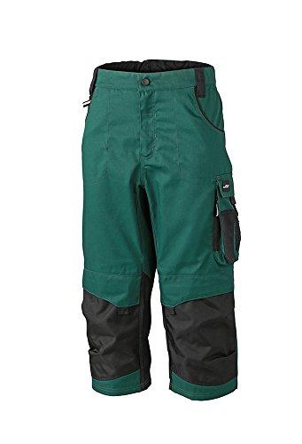 trabajo Pantalones 3 con 4 negro de detalles funcionales oscuro especializados Verde FZSHq