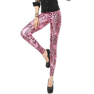 c0f6df1e82ec2 Amazon.com: BuW Women's Spandex Hot Pink Leopard Animal Print Leggings,  leggings, jeggings, pants, tights, printed leggings, yoga leggings: Sports  & ...