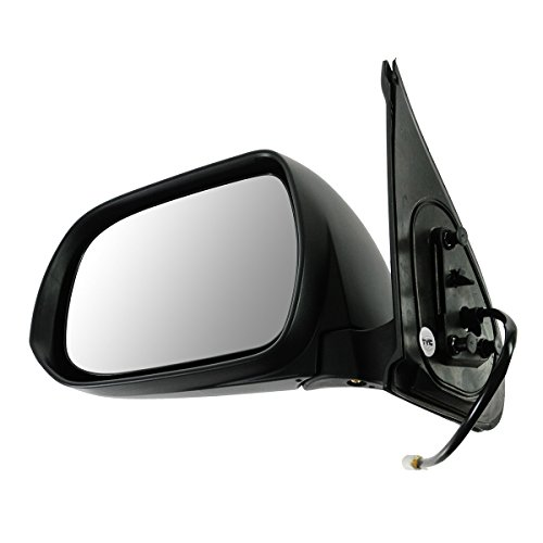 Toyota Tacoma Mirror Lh Driver (Mirror Power Black Textured Driver Side Left LH for 12-14 Toyota Tacoma)