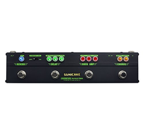 - Sonicake Multi Guitar Effect Strip Pedal Sonicbar Rockstage Combining 4 Classic Arena Rock Guitar Effects in 1 Unit of Chorus Distortion Delay and Reverb Effect