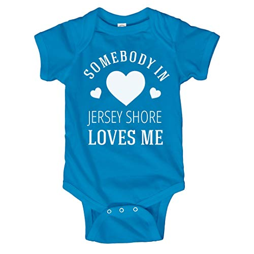 Someone in Jersey Shore Loves Me: Infant Bodysuit Turquoise -