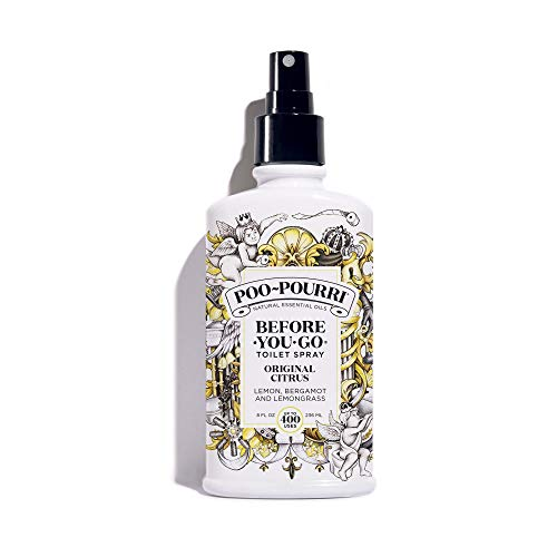 - Poo-Pourri Before-You-Go Toilet Spray 8 oz Bottle, Original Citrus Scent