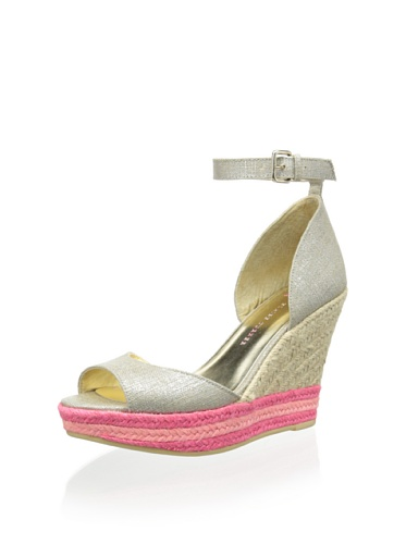 Elaine Turner Arial Wedge Sandals Metallic Linen / Multi-color SYWr5