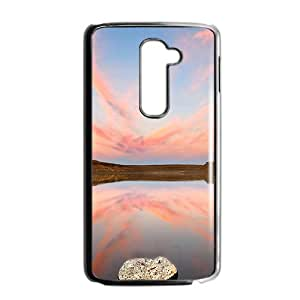 Pink Sky Black Phone Case for LG G2 Case