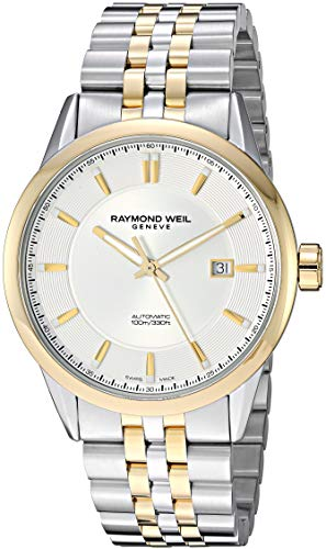 Raymond Weil Men's 2731-STP-65001 Freelancer Analog Display Automatic Self Wind Silver Watch