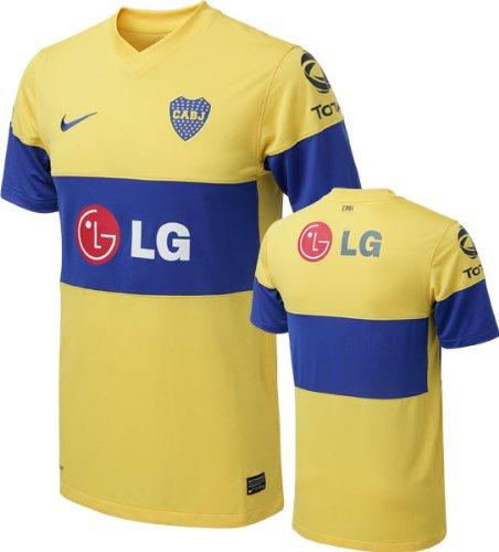 newest b7c15 8504a Amazon.com : Boca Juniors Yellow Nike Replica Away Jersey ...