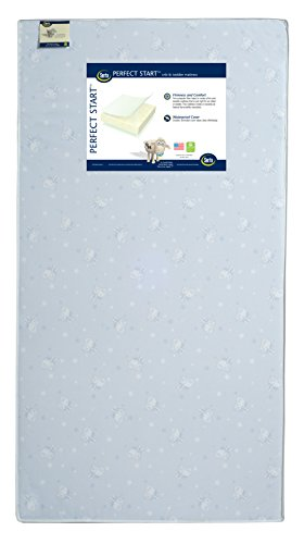 Serta Perfect Start Fiber Core Crib and Toddler Mattress | Waterproof | Lightweight | GREENGUARD Gold Certified -