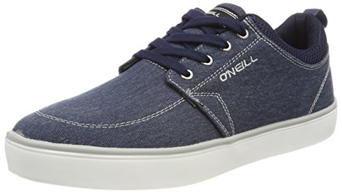Navy Crest O'Neill C04 Grey Canvas Bleu Homme Baskets dUXwqFXxvr