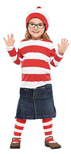Where Wally Wenda Child Costume (Where's Wally? Wenda Kids costume girl corresponding height 120-140cm 95896M)