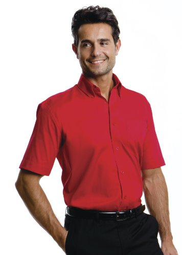 "Kustom Kit-Maglietta a maniche corte da uomo, modello ""Oxford"", KK109 nero Large"