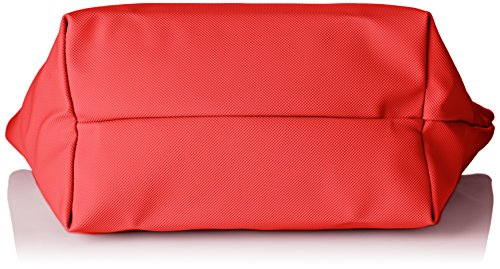 L Rouge x Sac Cuir High 5x23 H 5x24 W Red 5 Bandouliere x Risk Cabas cm Lacoste Femme 14 OE6qpxZK4w
