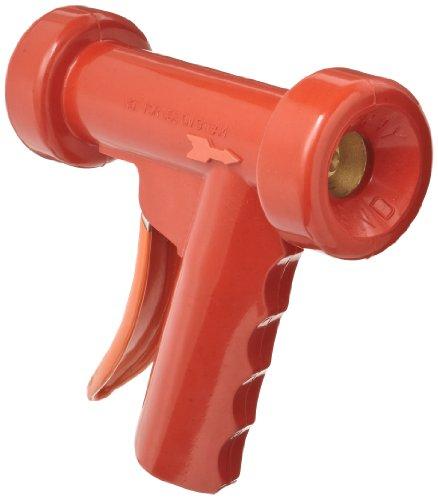 SuperKlean 150B-R Pistol Grip Spray Nozzle, Brass, 1/2 NPT, Red by SuperKlean (Image #1)