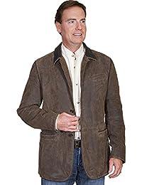 Men's Leather Blazer - 236-195