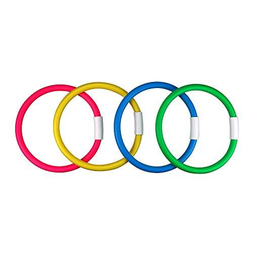 (Water Gear Bright Colors Dive Rings 4-Pcs, (6-Inch Diameter))