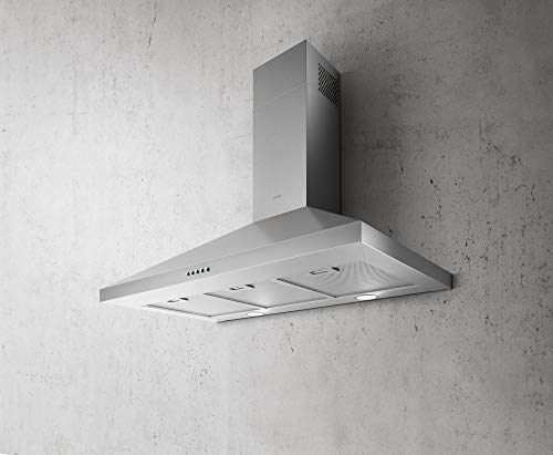 Elica EVL436S2 Volterra 400 CFM 36 Inch Wide Wall Mounted Range Hood with LED Lighting and Three Layer Mesh Filter