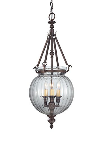 Feiss F2800/3ORB, Luminary Mini Candle 1 Tier Chandelier Lighting, 3 Light, 180 Watts, (Porcelain Mini Chandelier)