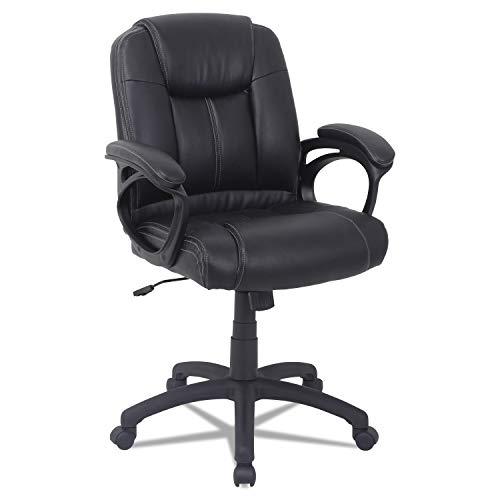 Alera ALECC4219F Alera CC Series Executive Mid-Back Leather Chair, Black