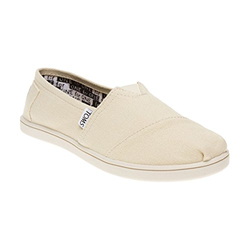 TOMS Kids Unisex Classics (Little Kid/Big Kid) Natural Canvas Loafer 3 Little Kid M - Toms Canvas Wedge Shoes