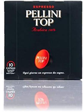 Pellini Caffè – Espresso Pellini TOP (6 Astucci da 10 Capsule, Totale 60 Capsule), Compatibili Nescafé Dolce Gusto