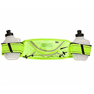 Nike Lightweight Hydration Belt-2 Bottle- Volt/Black