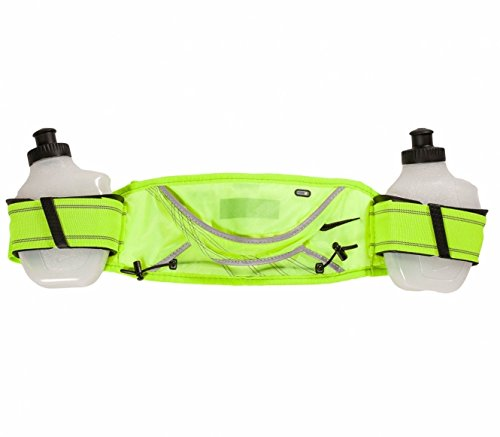 Nike Football Belt (Nike Lightweight Hydration Belt-2 Bottle- Volt/Black)