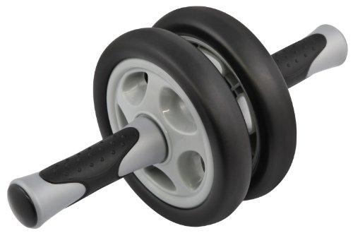Premium AB Wheel Bauch Roller Bauchtrainer Arm Rücken Trainer Bauchmuskeltrainer black ca. 33x14x14cm (LxBxH)