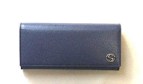(グッチ) GUCCI 長財布 メンズ レディース ブルー 新品 256348 [並行輸入品] B071695B5T