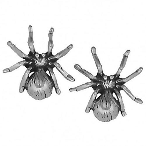 Corinna-Maria 925 Sterling Silver Spider Earrings Studs Tiny Mini Tarantula Stainless Steel Posts Backs