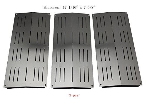 (BBQ Mart SP7441(3-pack) Stainless Steel Heat Plate Replacement for Select Bakers and Chefs, Sams, Charbroil, Grand Cafe and Other Gas Grill Models)