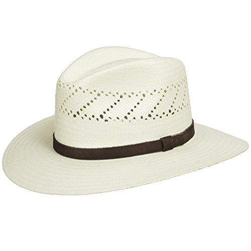 57a5371430cce HAVANA Fedora Vented Panama Outback Straw Hat Ultrafino (B003UUEB0C ...