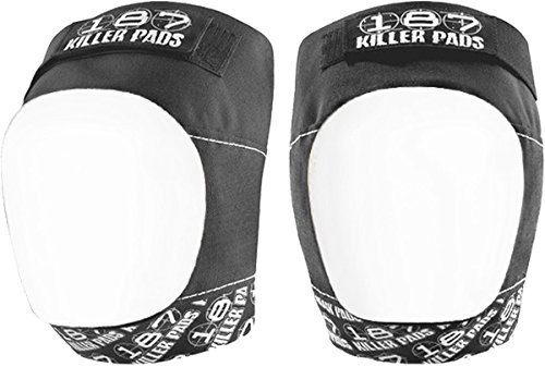 187 Killer Pro Knee Pads White Cap - White / Black - Small by 187 Killer Pads (Image #1)
