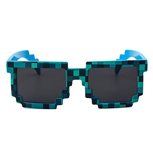 JUJU MALL-Kids Thug Life Attitude Sunglasses 8 Bit Pixel Deal With IT Unisex Glass - Deal Sunglass Websites